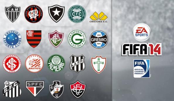 FIFA 14 Brazil club crests