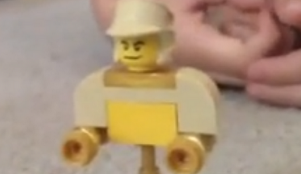 LEGO Bouncer close-up