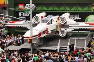 life-size LEGO X-Wing