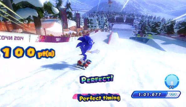 You'll have to be faster than light to get the best time on the snowboarding slope