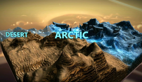 You can make any kind of world you like in Project Spark, from cold icebergs to hot deserts