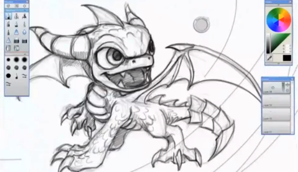 Awesome video shows Skylander artist draw characters