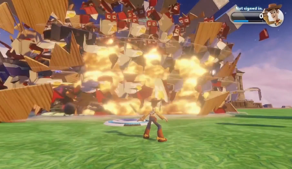 Disney Infinity trailer builds a house and blows it up