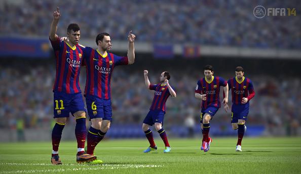 FIFA 14 Barcelona game