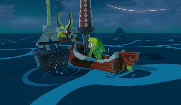 Link can sail in his own boat and search for treasure in the ocean