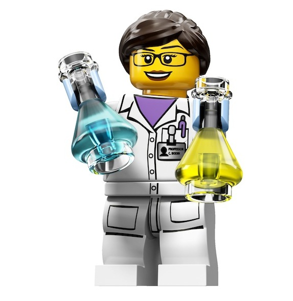 New LEGO minifigure: their first female scientist!