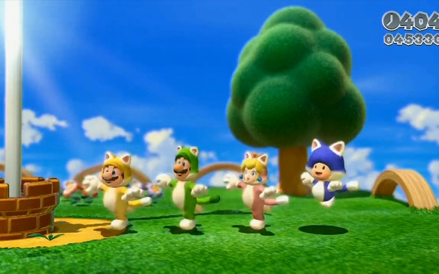 Super Mario 3D World trailer is cat obsessed