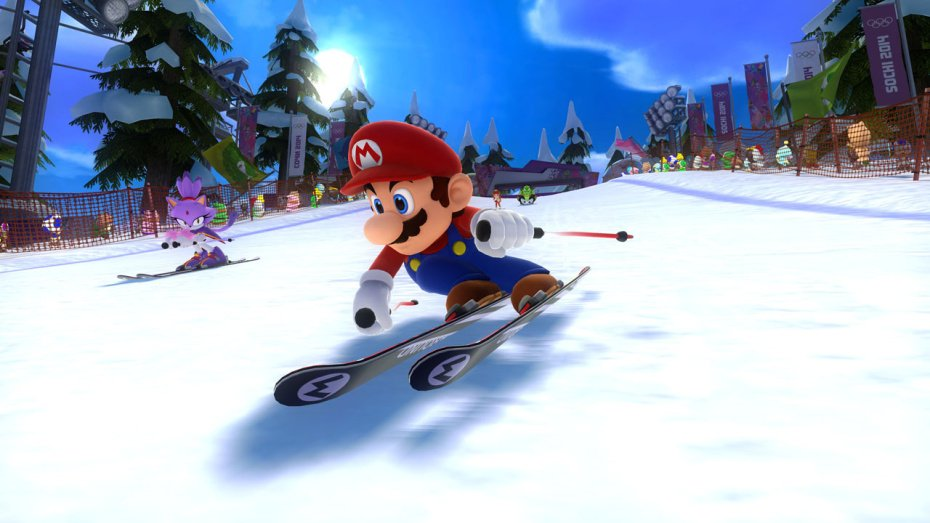 Mario & Sonic Olympic Winter Games screens show chilly fun