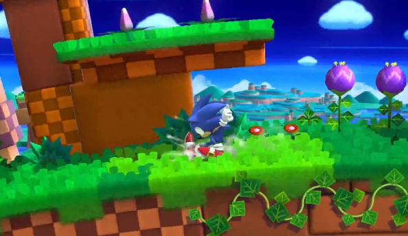 Super Smash Bros Sonic Green Hill Zone