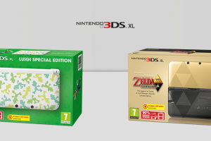 The Luigi and Zelda special edition 3DS XL