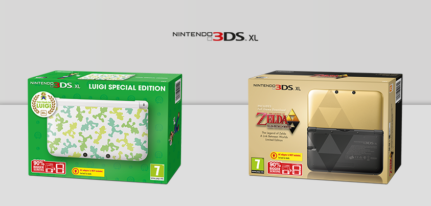 New Zelda and Luigi special 3DS models coming soon