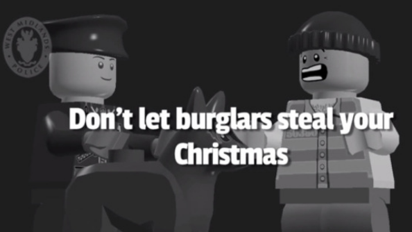LEGO burglar steals Christmas in Police warning video