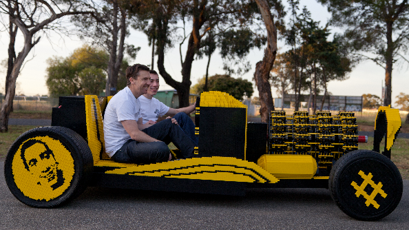 Amazing car made out of LEGO really works