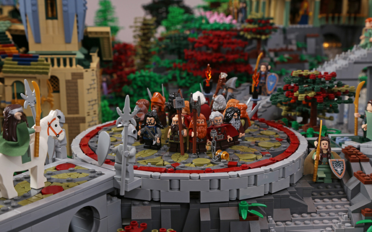 Rivendell from The Lord of the Rings made of LEGO bricks