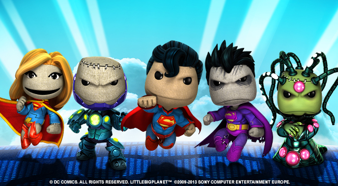 LittleBigPlanet invaded by DC Super Heroes!