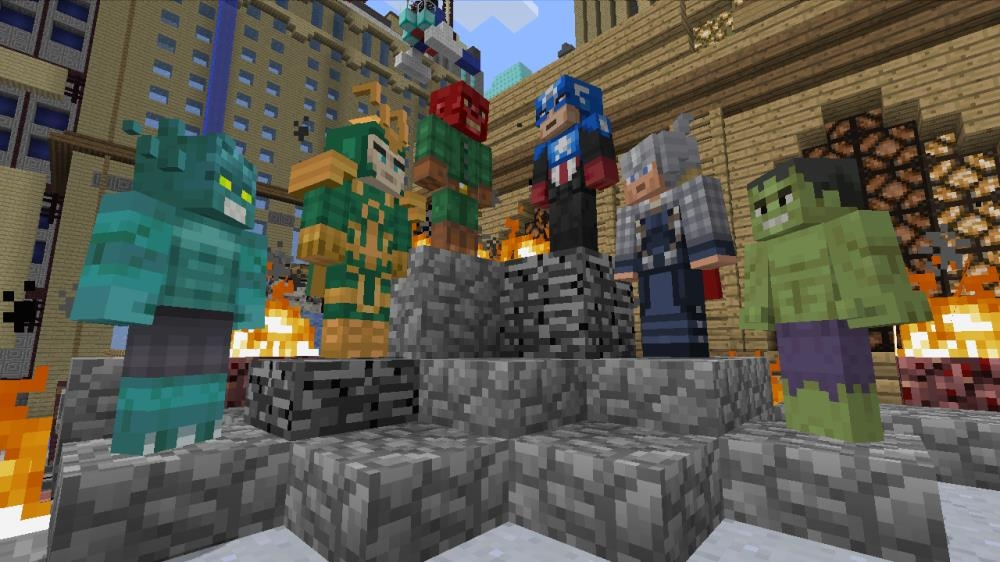 Minecraft Xbox 360 edition assembles The Avengers
