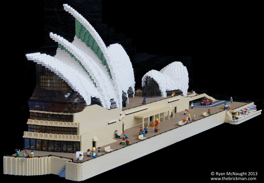 The Sydney Opera House built from LEGO
