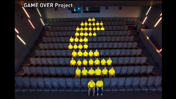 PAC-MAN recreated using humans!