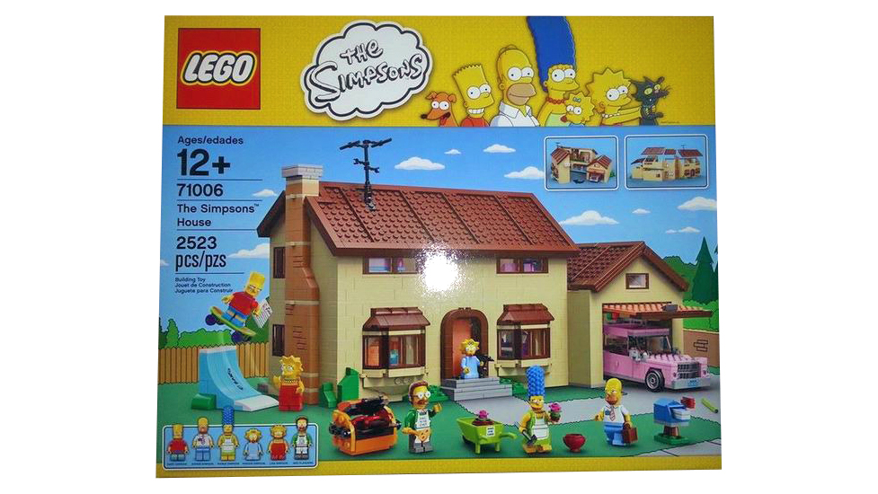 The box for the LEGO Simpsons house kit