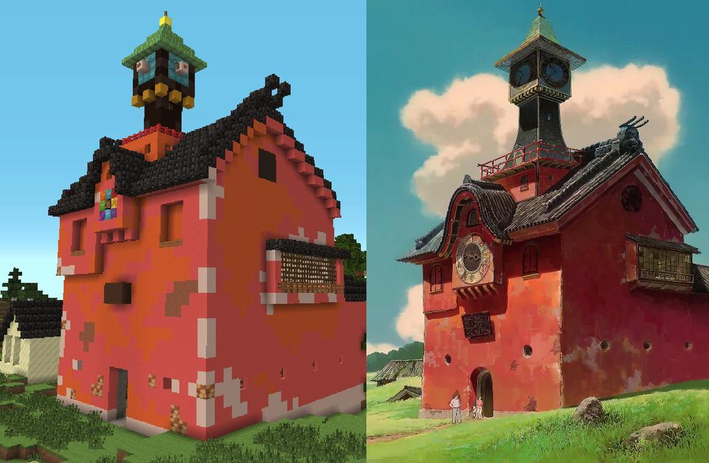 Spirited Away built in Minecraft