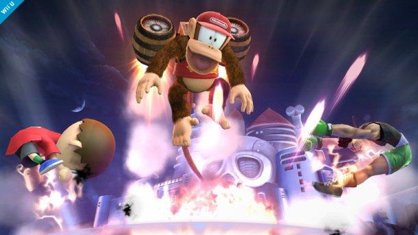 Diddy Kong rocketbarrels