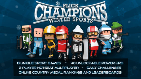 iOS App of the Day: Flick Champions Winter Sports