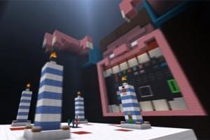 Minecraft cake minigame