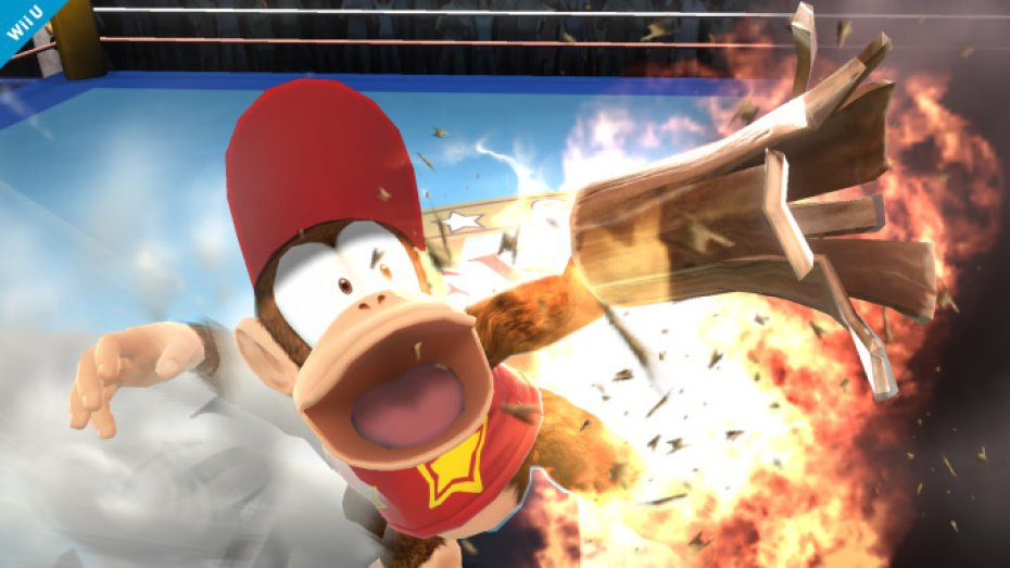 Diddy Kong's rocketbarrel boost is improved for Super Smash Bros.