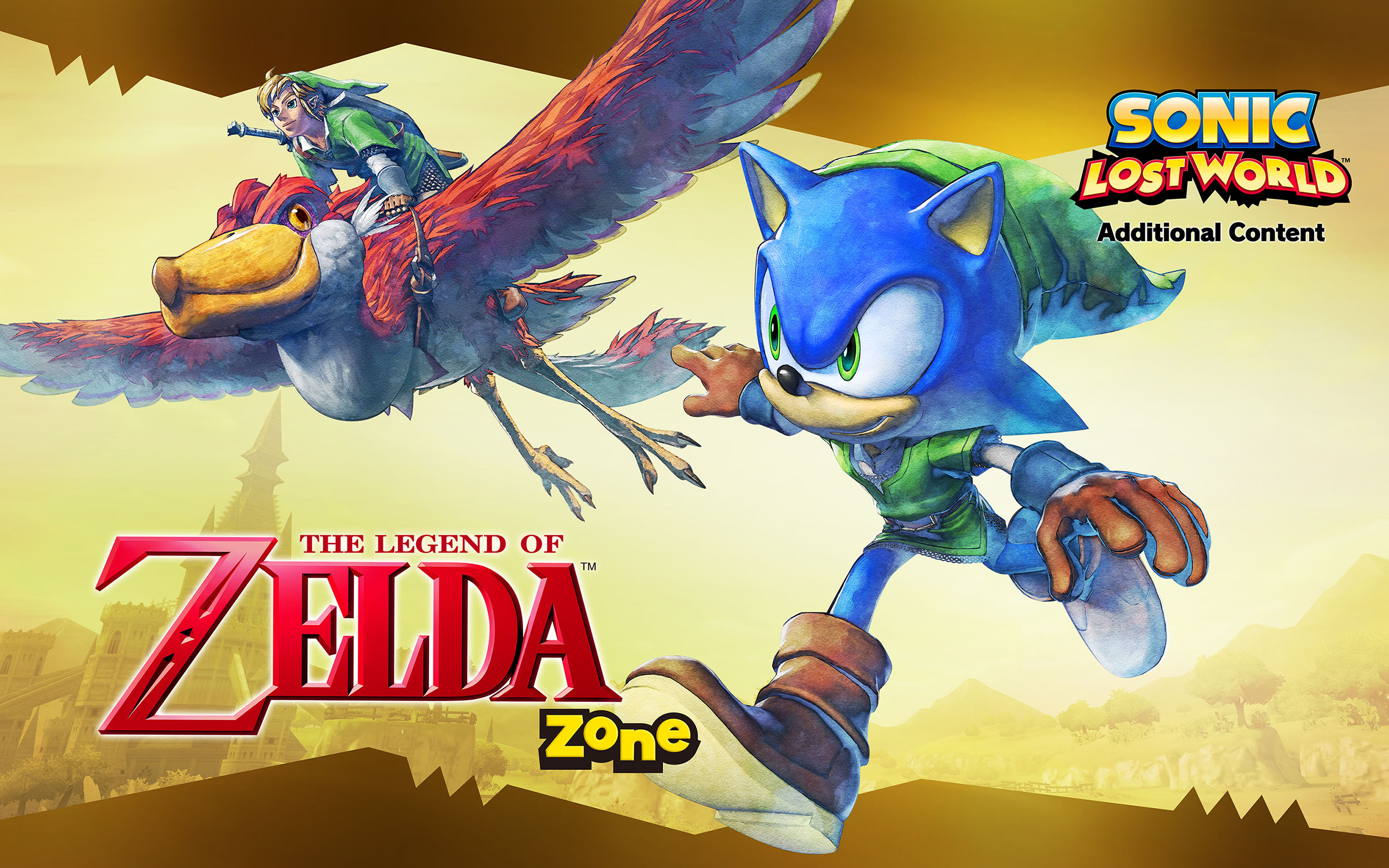 Sonic The Lost World Zelda DLC on Wii U