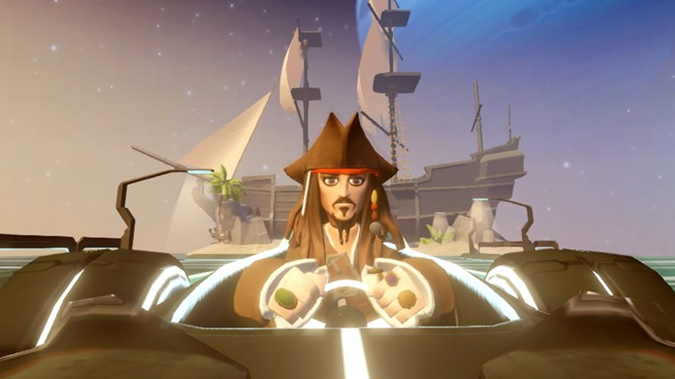 Captain Jack is racing to the App Store to download Disney Infinity now!