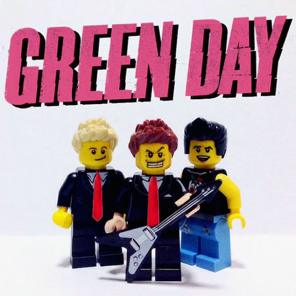 Rock and Roll stars recreated in LEGO