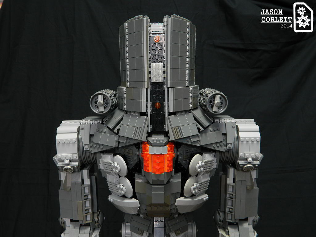 Pacific Rim Jaeger built from Lego