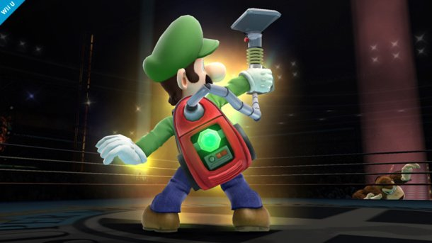 Luigi will wield the Poltergust in Super Smash Bros.