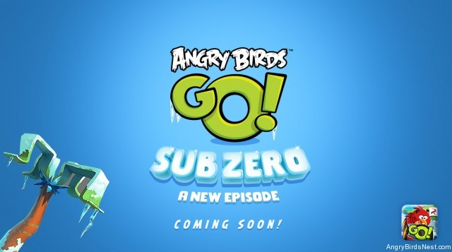 Brrr! The teaser poster for Angry Birds Go! Sub Zero