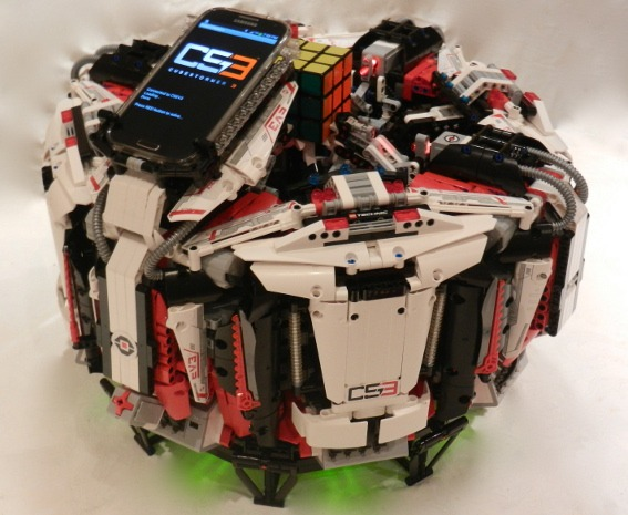 Lego robot solves Rubik?s Cube in five seconds!