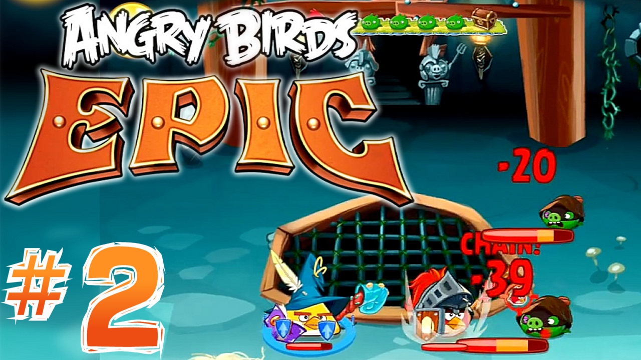 Angry Birds Epic: Boss Battle, Crafting Weapons, Magic Items