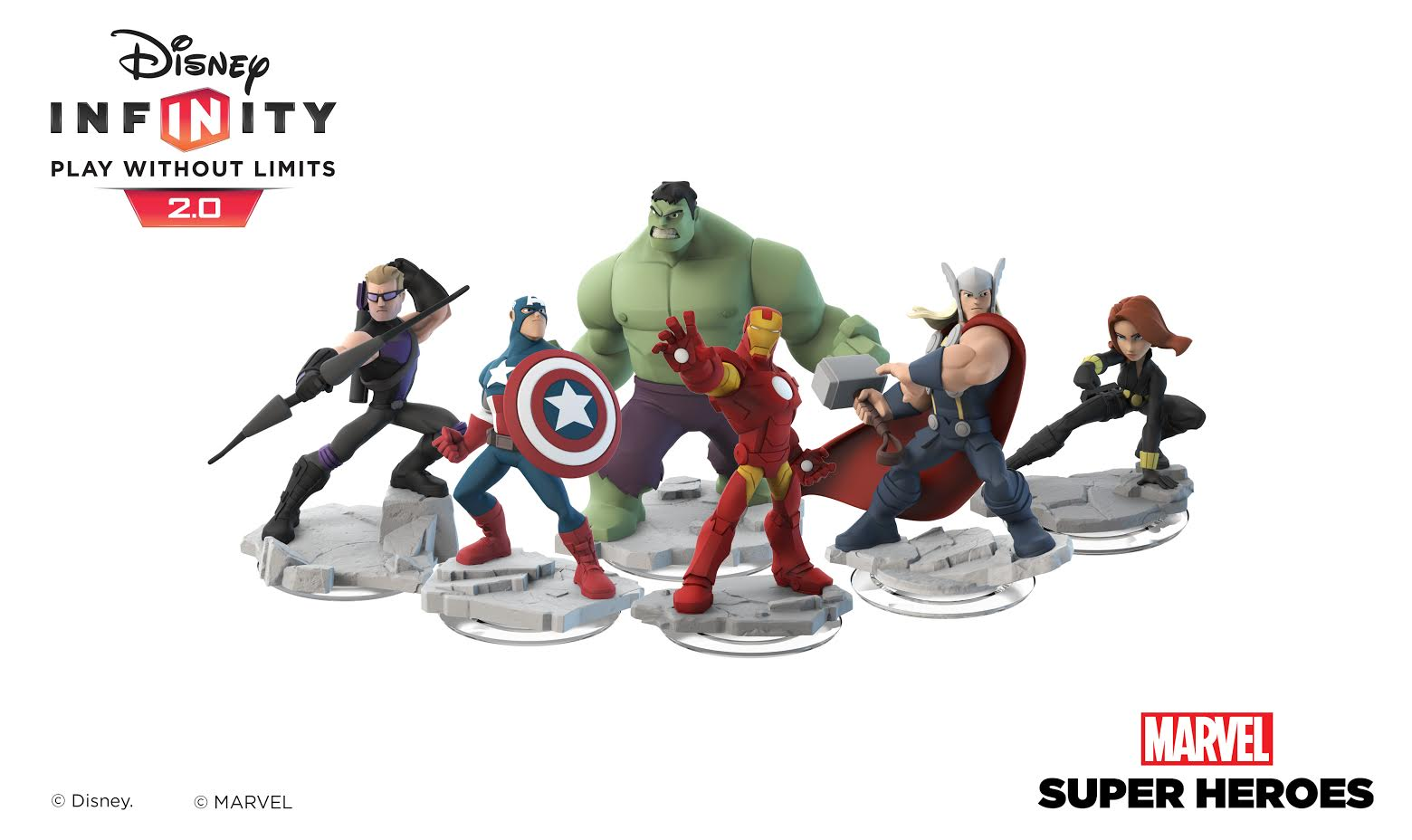 Look at Disney Infinity 2.0 Marvel Super Heroes toys and power discs