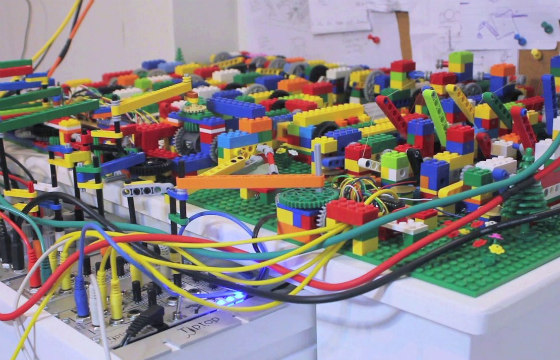 See this awesome LEGO machine play music!