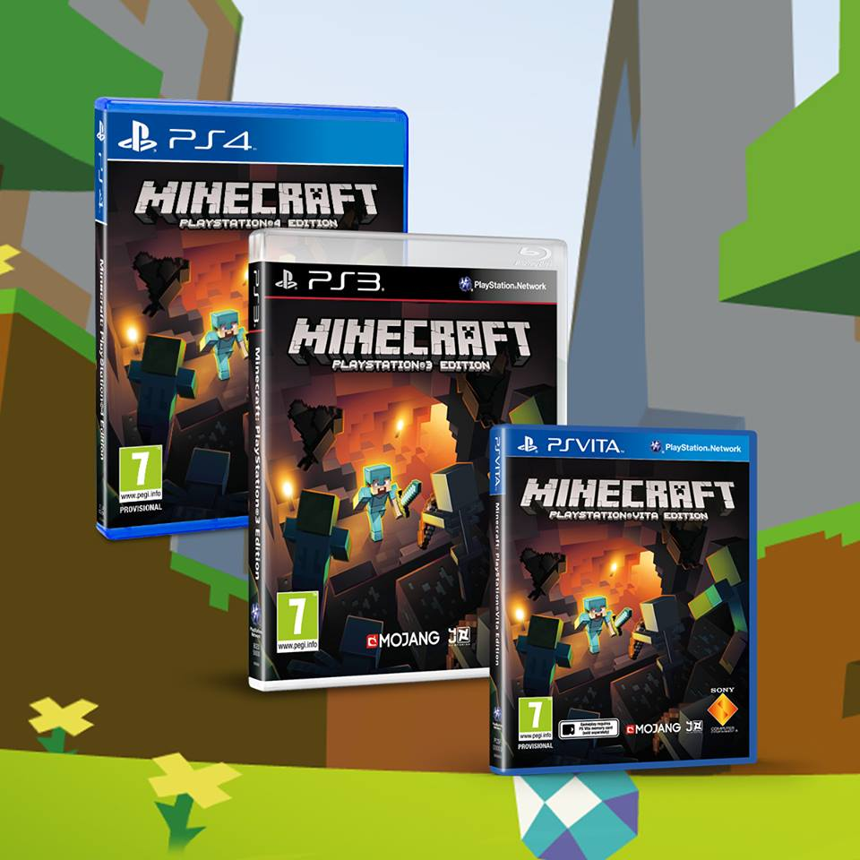 Boxes for Minecraft on PS4, PS3, and PS Vita