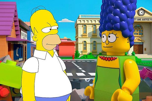 First screenshot from The Simpsons LEGO episode