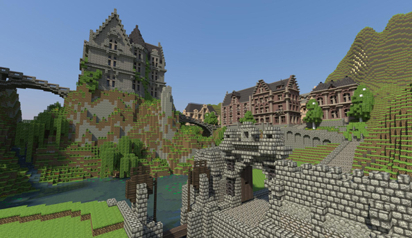 Minecraft Realms now available in North America