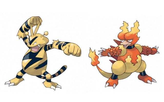 Electrabuzz and Magmar on their way to Pokémon X & Y