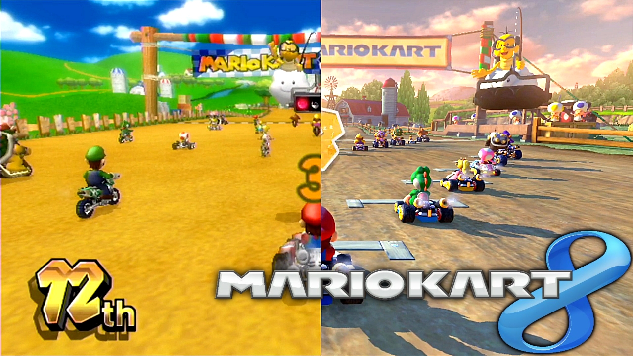 See the difference between Mario Kart Wii and Wii U!