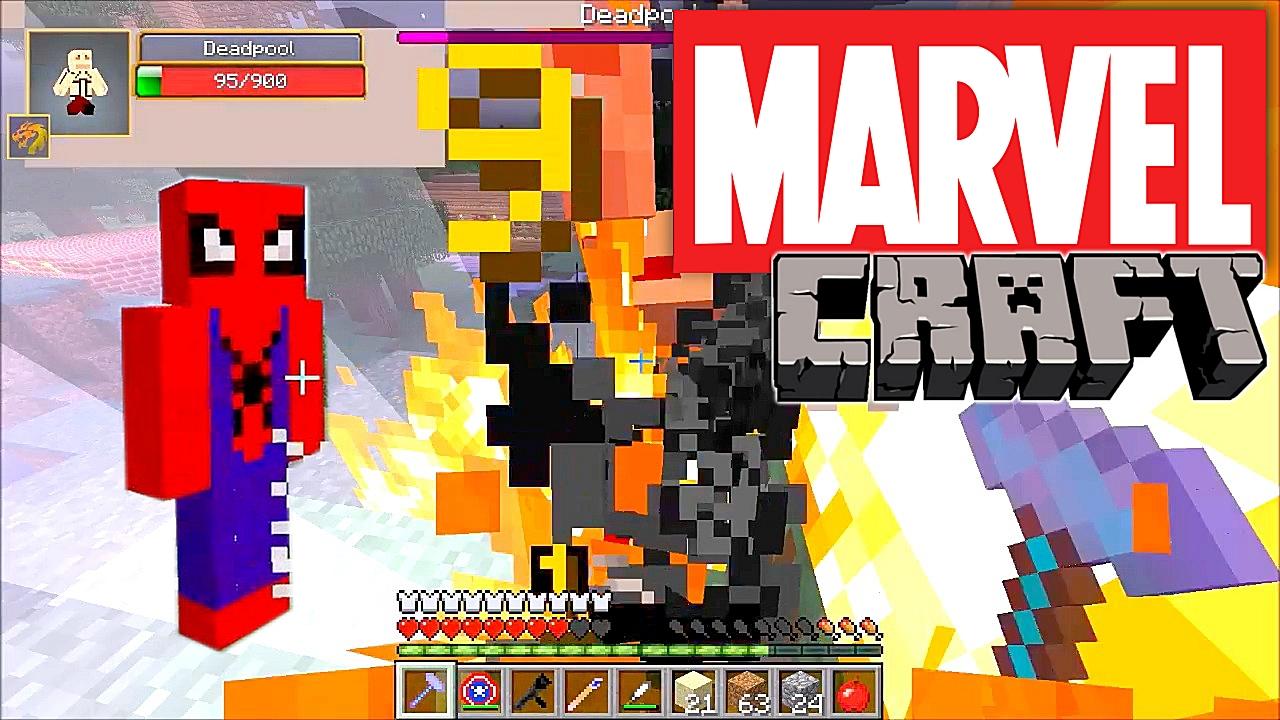 Jump into comics with MarvelCraft Minecraft mod