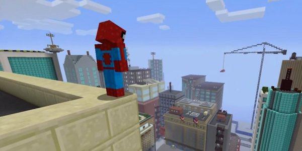 Spider-Man swings into Minecraft Xbox 360