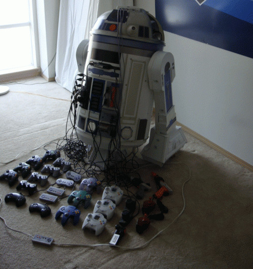 Awesome R2D2 is actually a games console!