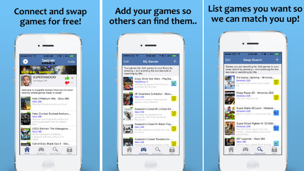 The SwapMe Games app is really easy to use