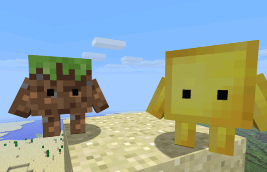 Try out the awesome Minecraft Blokkit mod