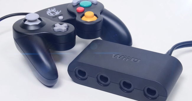 Wii U GameCube controller adapter for Super Smash Bros.