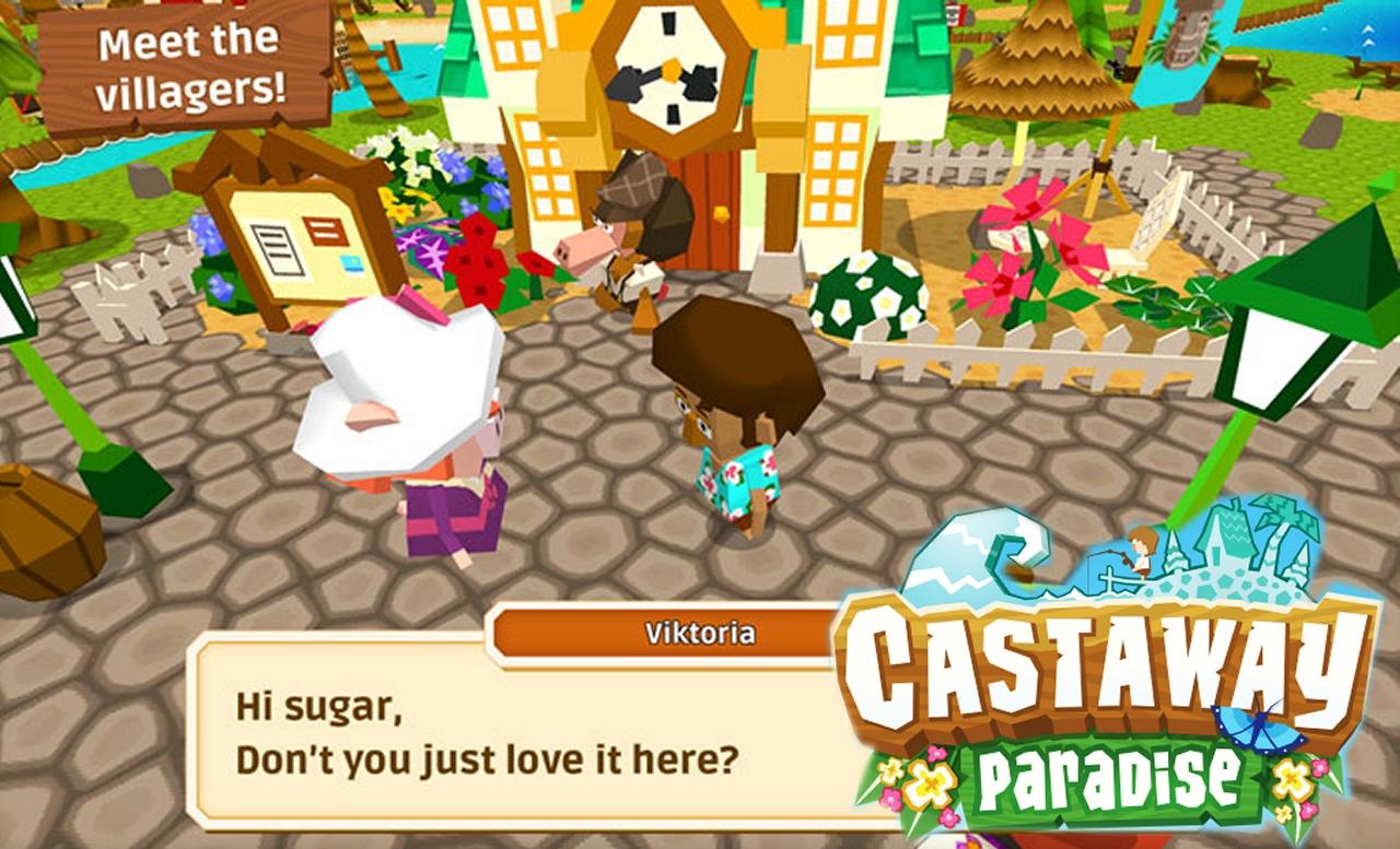 Castaway Paradise on iPad is just like Animal Crossing